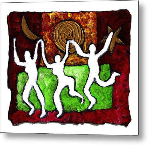 Dance Metal Print featuring the painting Spirits Of The Dance by Wayne Potrafka