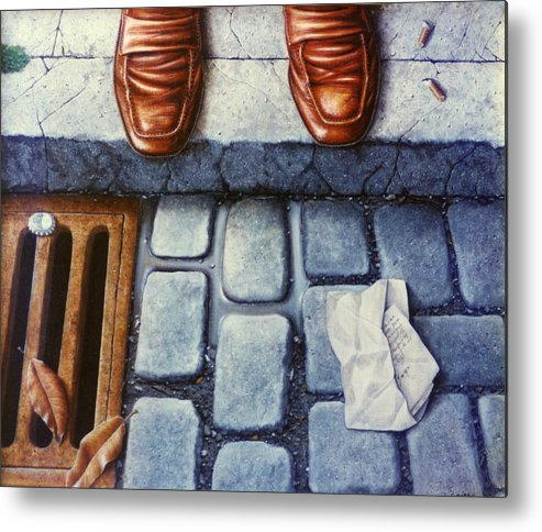 Realistic Metal Print featuring the painting The Last Letter by Laine Garrido