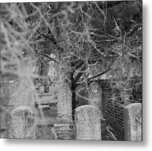 Cemetery Metal Print featuring the photograph The Note Unsaid by Sanctuary of Words Gallery