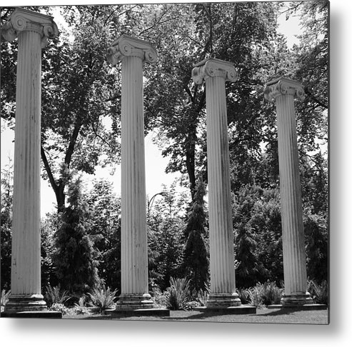 Architecture Metal Print featuring the photograph Theatre Columns by Sonja Anderson