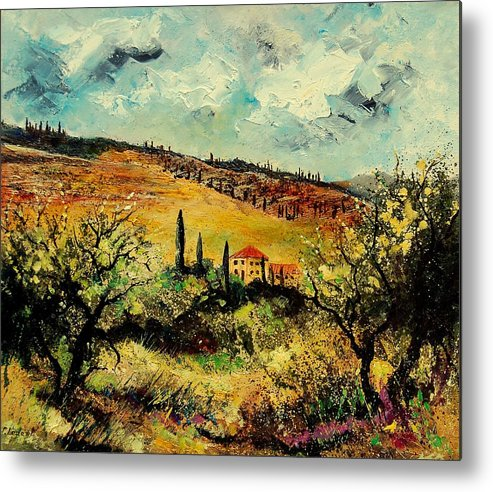 Provence Metal Print featuring the painting Tuscany 67 by Pol Ledent