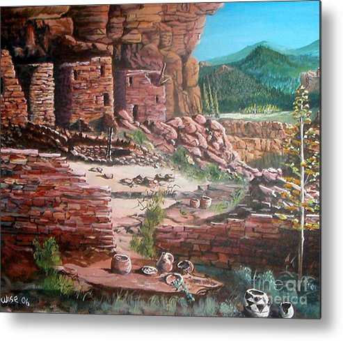 Native America Metal Print featuring the painting Undiscovered by John Wise