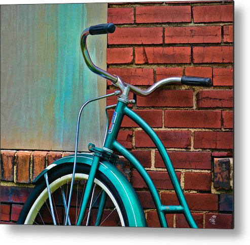 Greg Jackson Metal Print featuring the photograph Vintage Montgomery Ward Bicycle 6 by Greg Jackson