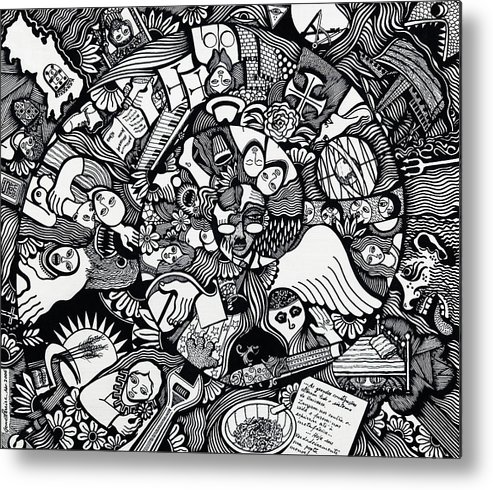Drawing Metal Print featuring the drawing What I Used To Be Was A Desire Which As Gone by Jose Alberto Gomes Pereira
