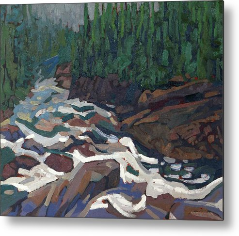 2142 Metal Print featuring the painting Grande Chute Morning Light by Phil Chadwick