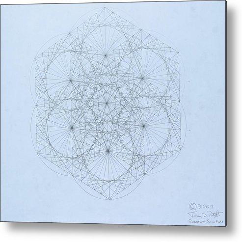 Jason Padgett Metal Print featuring the drawing Quantum Snowflake by Jason Padgett