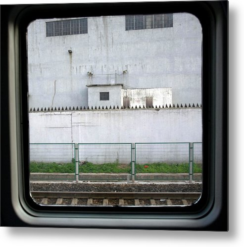 Architecture Metal Print featuring the photograph Scene From A Train In Chinas Southern by Natalie Behring
