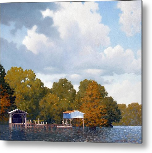 Bayou Metal Print featuring the painting Gone Fishing by Kevin Lawrence Leveque