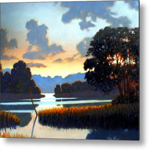 Landscape Metal Print featuring the painting Grassy Point by Kevin Lawrence Leveque