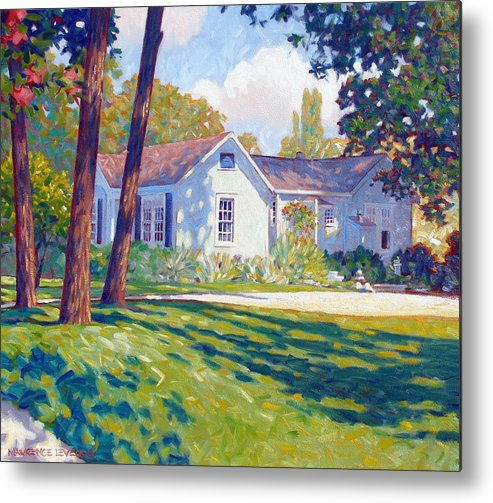 City Metal Print featuring the painting Artists Home by Kevin Lawrence Leveque