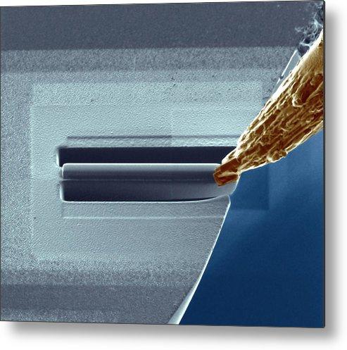 Aluminium Metal Print featuring the photograph Atom Probe Analysis by Ammrf, University Of Sydney
