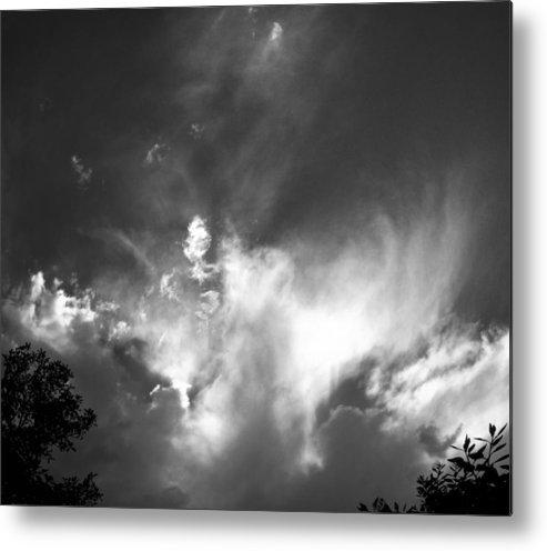Cloud Metal Print featuring the photograph Bird Cloud by Patrick Cosgrove