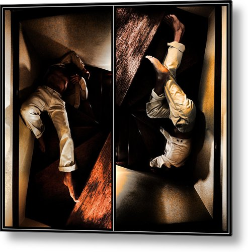Men Metal Print featuring the photograph Fallen by Andrei SKY