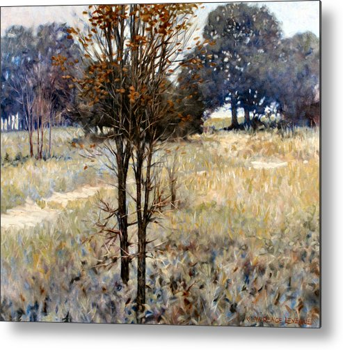 Landscape Metal Print featuring the painting Feathery Field by Kevin Lawrence Leveque