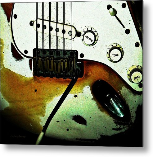 Music Metal Print featuring the photograph Fender Detail by Chris Berry