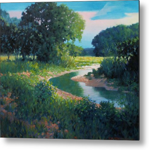 Landscape Metal Print featuring the painting First Light by Kevin Lawrence Leveque