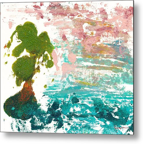 Janet Gunderson Metal Print featuring the painting Florida Cypress by Janet Gunderson