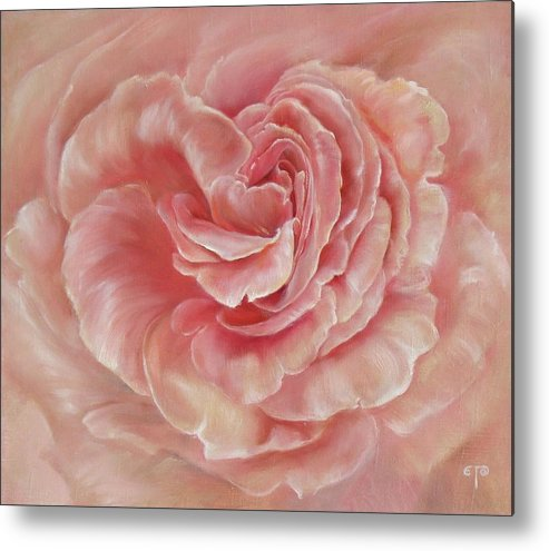 Rose Metal Print featuring the painting Gentle by Tanya Byrd