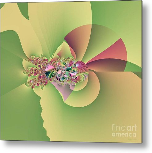 In The Land Of Faires Metal Print featuring the digital art In The Land Of Fairies by Maria Urso