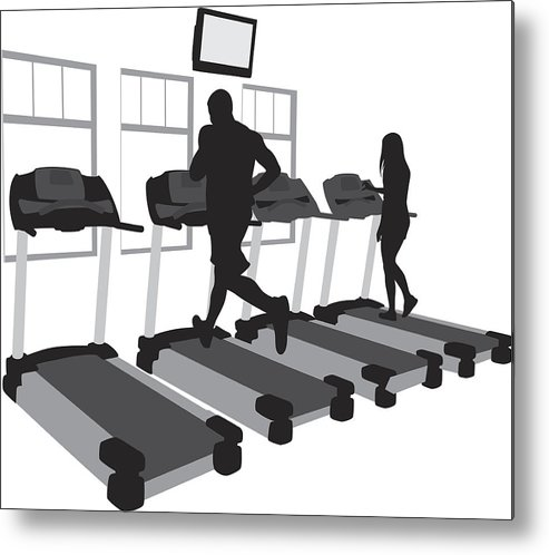 Fit people on drawing machine at gym stock photo picture and