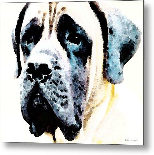 Mastiff Metal Print featuring the painting Mastif Dog Art - Misunderstood by Sharon Cummings