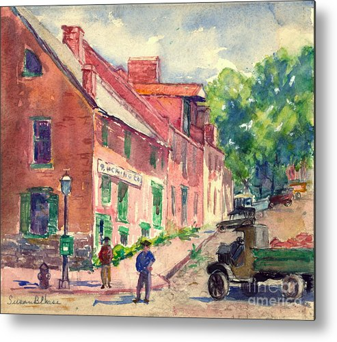 Old Georgetown Dc 1910 Metal Print featuring the photograph Old Georgetown Dc 1910 by Padre Art