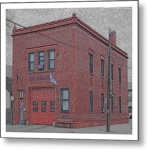 Chicago Metal Print featuring the photograph One Truck Fire Station by Jackson Pearson