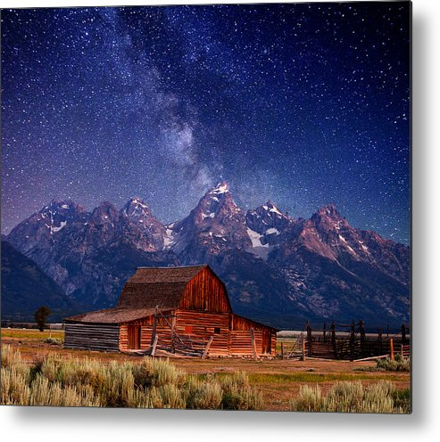 Grand Teton Metal Print featuring the photograph Teton Nights by Darren White