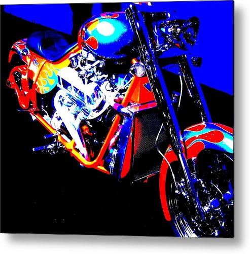 Cycle Metal Print featuring the photograph The Motorcycle As Art by Don Struke