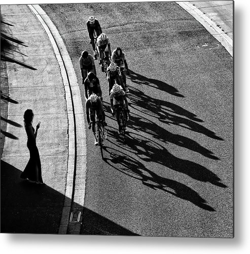 Cycling Metal Print featuring the photograph The Supporter by Lou Urlings