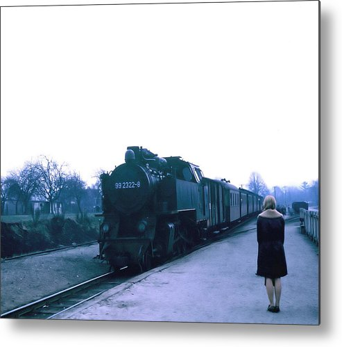 Sexy Metal Print featuring the photograph Train Ride. by Oscar Williams