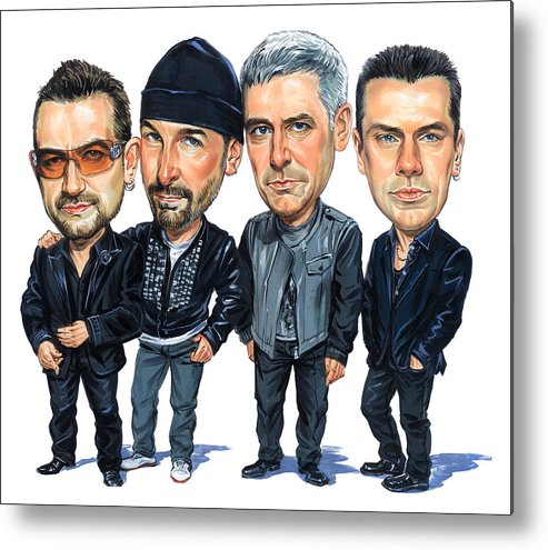 U2 Metal Print featuring the painting U2 by Art