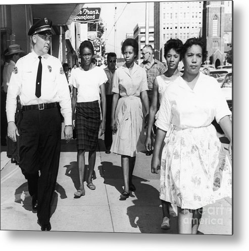 1963 Metal Print featuring the photograph Mississippi: Sit-in, 1963 by Granger