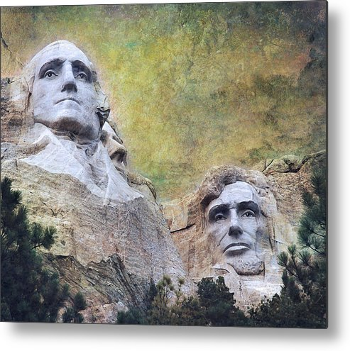 "TIN SIGN /""Mount Rushmore/"" Patriotic Garage Wall Decor"
