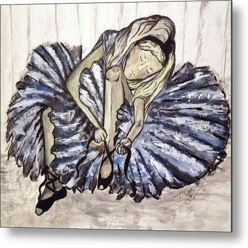 Ballet Metal Print featuring the painting Ballerina Girl by Tammera Malicki-Wong