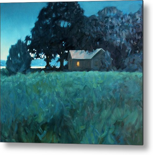 Landscape Metal Print featuring the painting Early Riser by Kevin Lawrence Leveque