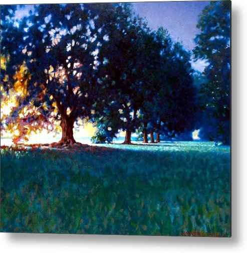 Oak Metal Print featuring the painting Five Oaks by Kevin Lawrence Leveque