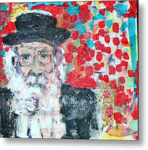 Israel Metal Print featuring the painting Jerusalem Man by Joyce Goldin
