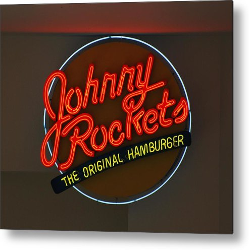 Macro Metal Print featuring the photograph Johnny Rockets by Rob Hans