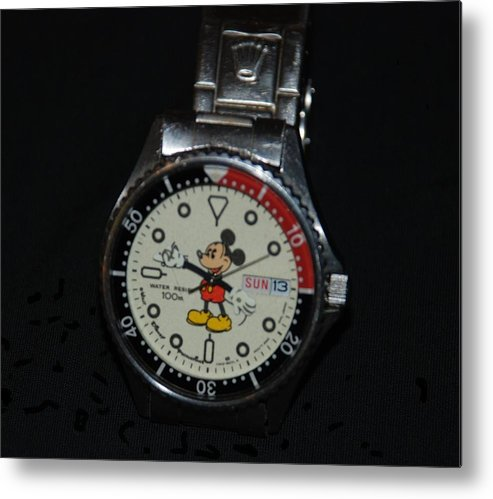 Mickey Mouse Metal Print featuring the photograph Mickey Mouse Watch by Rob Hans