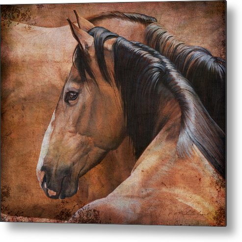Michelle Grant Metal Print featuring the painting Almost Dun by JQ Licensing