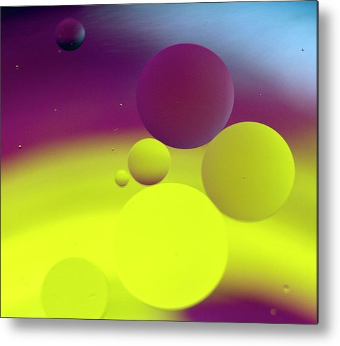 Oil Metal Print featuring the photograph Balancing by Rebecca Cozart