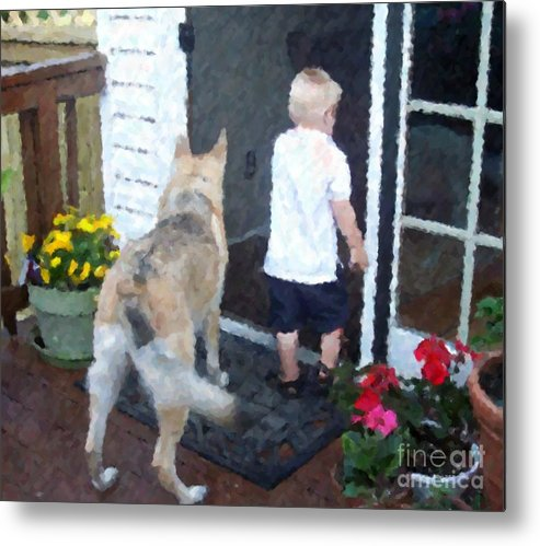 Dogs Metal Print featuring the photograph Best Friends by Debbi Granruth