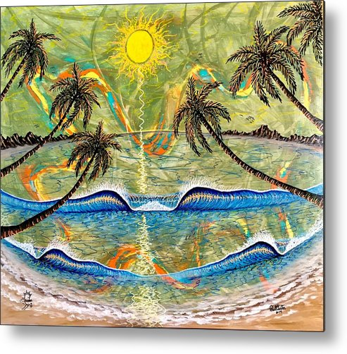 Breathe Metal Print featuring the painting Breathe In Clarity by Paul Carter