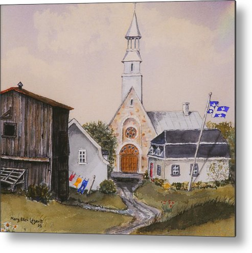 Landscape Metal Print featuring the painting Charlevoix Quebec by Mary Ellen Mueller Legault