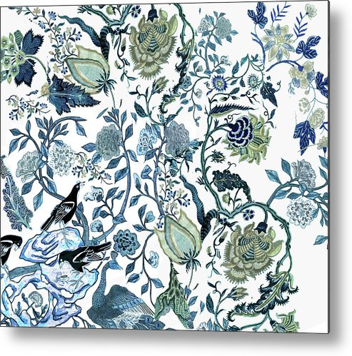 Chinoiserie Blue Metal Print featuring the photograph Chinoiserie Blue by Chrissy Ink