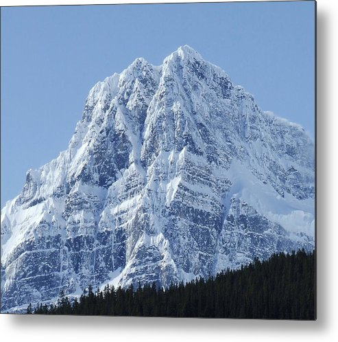 Cold Metal Print featuring the photograph Cold Mountain- Banff National Park by Tiffany Vest