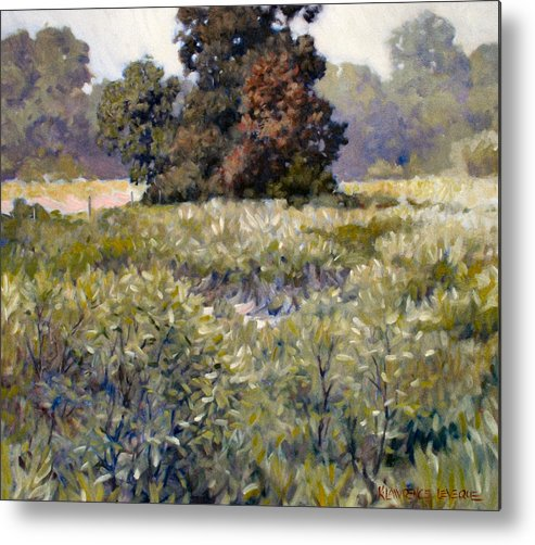 Landscape Metal Print featuring the painting Copse by Kevin Lawrence Leveque