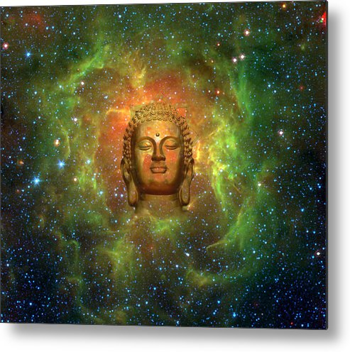 Buddha Metal Print featuring the digital art Cosmic Buddha by Jody Brusca