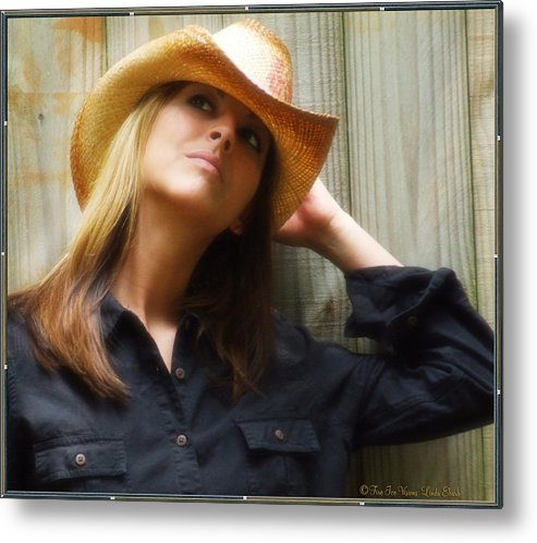 Cowgirl Metal Print featuring the photograph Cowgirl by Linda Ebarb